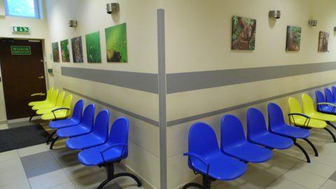 poczekalnia dla pacjentów w Medicenter na Mokotowie