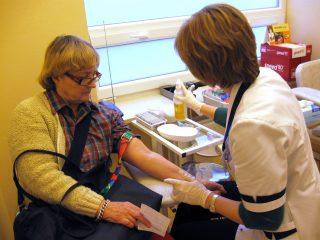 Pobrania krwi w laboratorium w Medicenter w Warszawie